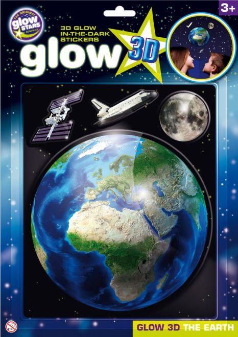 GlowStars Glow 3D Země, Měsíc a raketoplán