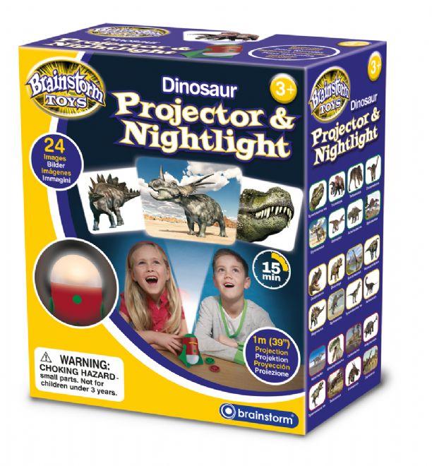 Dinosaurie projektor a nočné svetlo